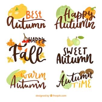 Elegante hallo herfst belettering samenstelling