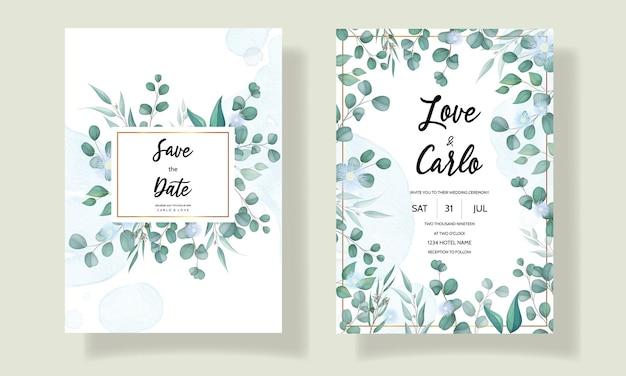 Elegante hand getrokken bloemen bruiloft uitnodigingskaart