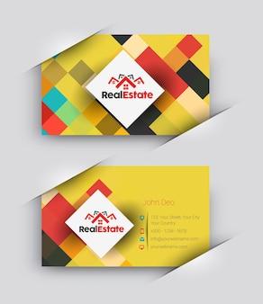 Elegante huizen visitekaartje vector sjabloon