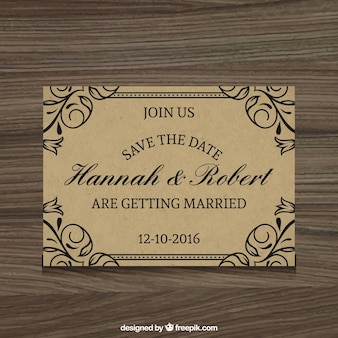 Elegante huwelijksuitnodiging rustieke stijl