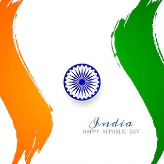 Elegante indiase vlag thema stijlvolle achtergrond