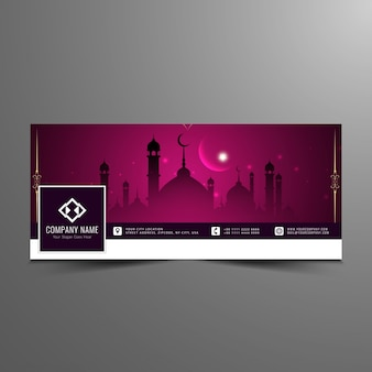 Elegante islamitische facebook tijdlijn design