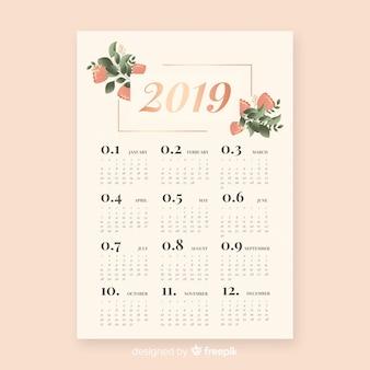 Elegante kalender 2019