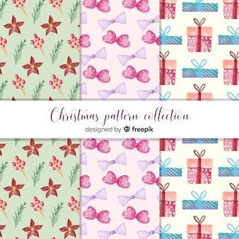 Elegante kerst patroon collectie