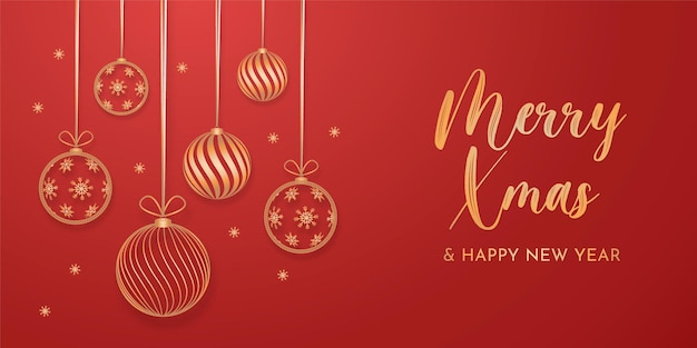 Elegante kerstachtergrond met gouden decoratie