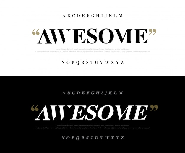 Elegante klassieke geweldige lettertype van alfabetbrieven.