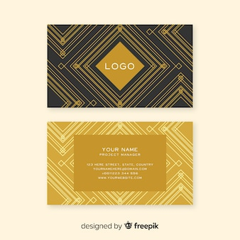 Elegante klassieke visitekaartjesjabloon