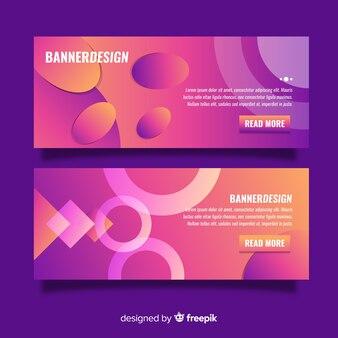 Elegante kleurrijke banners met verloopstijl