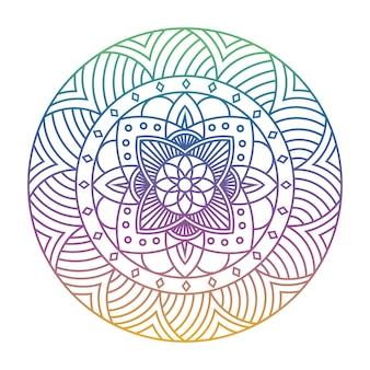Elegante kleurrijke mandala illustratie