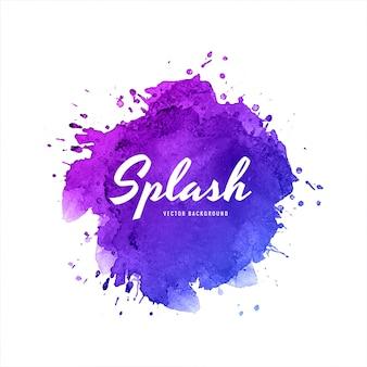 Elegante kleurrijke splash aquarel achtergrond