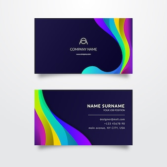Elegante kleurrijke visitekaartjesjabloon