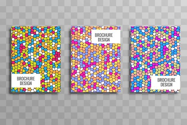 Elegante kleurrijke zakelijke brochure sjabloon set