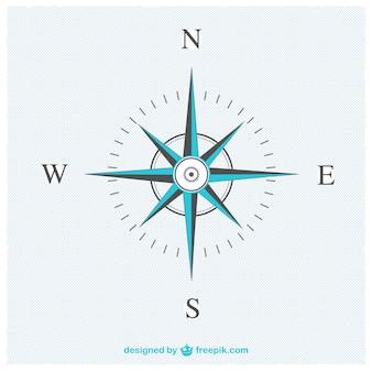 Elegante kompas vector