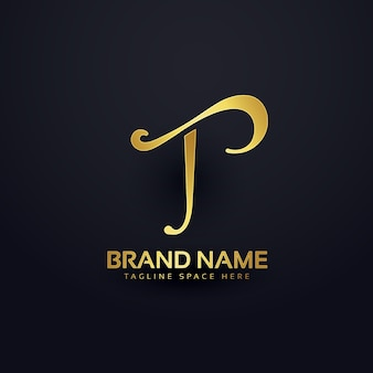 Elegante letter t-logo ontwerp met wervel effect