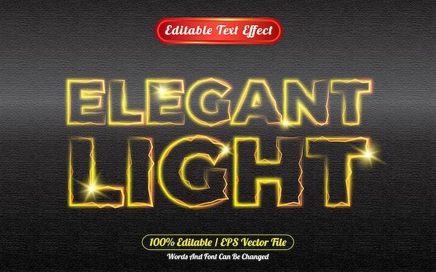 Elegante licht bewerkbare teksteffect sjabloonstijl