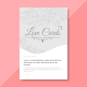 Elegante liefde kaartsjabloon