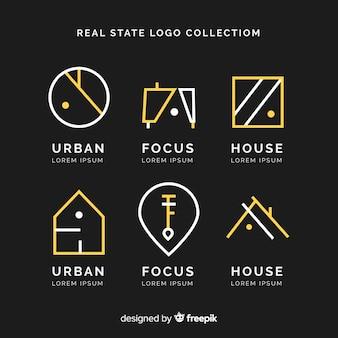 Elegante logo-collectie voor onroerend goed