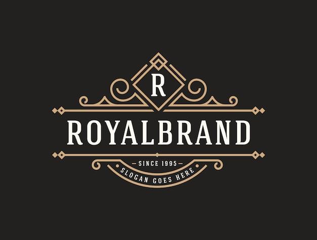 Elegante luxe logo-sjabloon