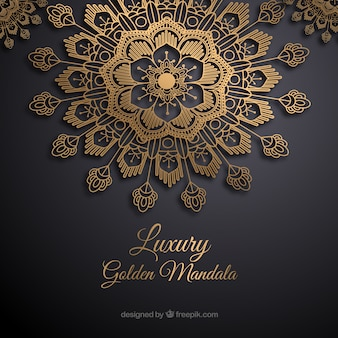 Elegante mandala concept achtergrond