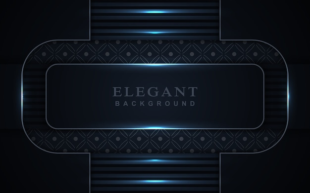 Elegante marineblauwe achtergrond met lichte decoratie