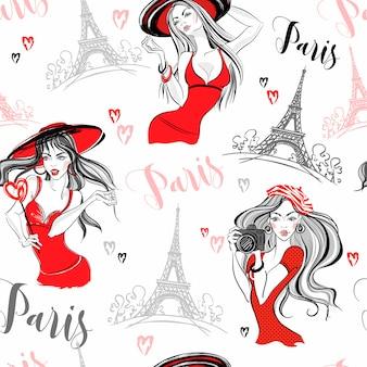 Elegante meisjes in parijs