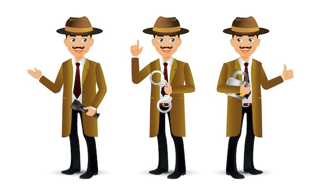 Elegante mensen. professionele detective