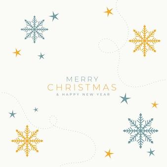 Elegante merry christmas smowflakes achtergrond kaart