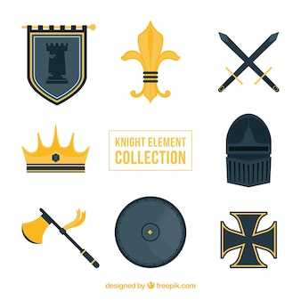 Elegante middeleeuwse elementen