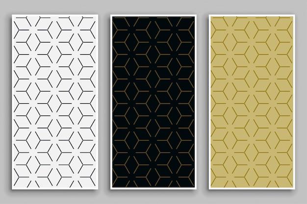 Elegante minimale patronen in boomkleuren