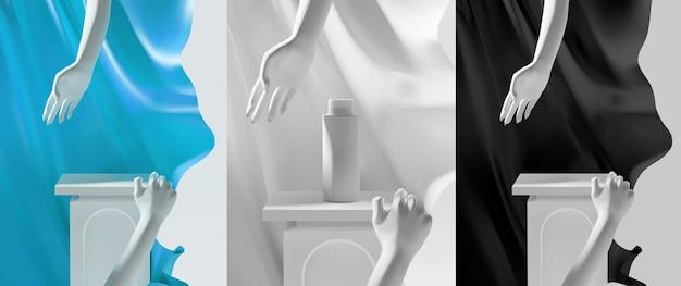 Elegante minimale podiumscène voor productpresentatie