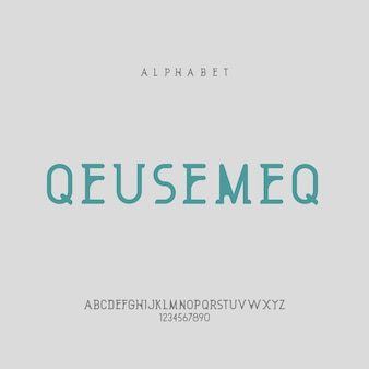 Elegante minimalistische moderne alfabetletter of lettertype casual typografie lettertypen logo lettertype premium vector