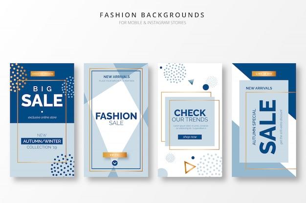 Elegante mode-achtergronden voor insta-verhalen