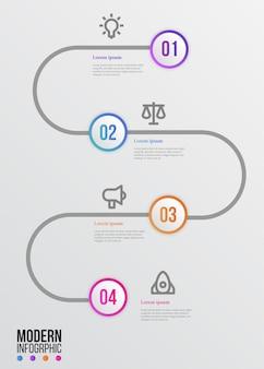 Elegante moderne infographic schoonheid mijlpaal