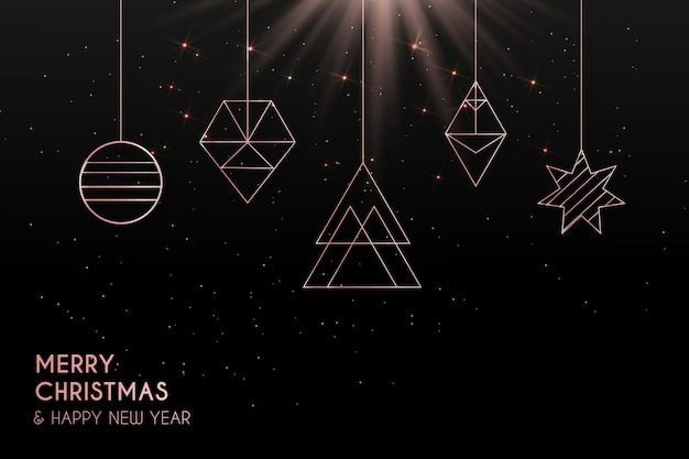Elegante moderne kerst achtergrond