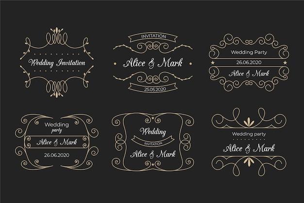Elegante monogrammen voor bruiloft