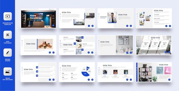 Elegante multifunctionele presentatiesjabloon set van 12 pagina's