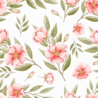 Elegante naadloze bloemmotief