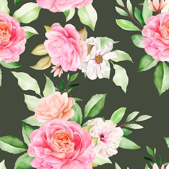Elegante naadloze patroon aquarel bloemen