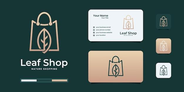 Elegante natuurwinkel logo-ontwerpinspiratie. minimaal eco-logo voor uw bedrijf.