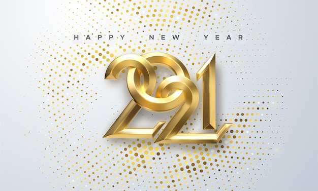 Elegante nummers 2021 voor nieuwe jaarillustratie