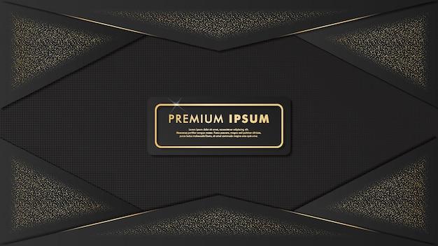 Elegante ontwerp gouden sjabloon achtergrond