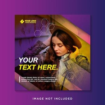 Elegante paarse sociale media-sjabloon voor spandoek
