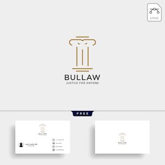 Elegante pijler advocaat logo
