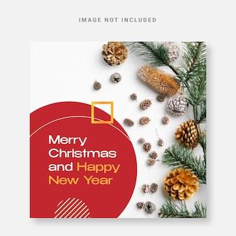 Elegante post media sociale kerst ontwerpsjabloon