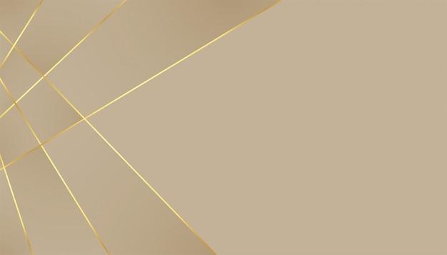 Elegante premium achtergrond met gouden lijnen effect