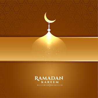 Elegante ramadan kareem creatieve achtergrond
