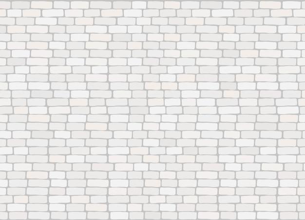 Elegante realistische trendy witte bakstenen muurtextuur als achtergrond