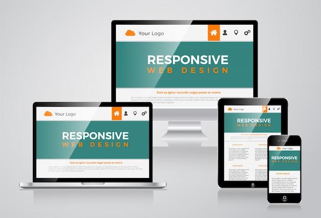 Elegante responsieve website illustratie vectorial design