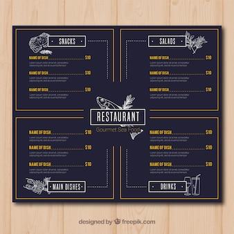 Elegante restaurant menusjabloon