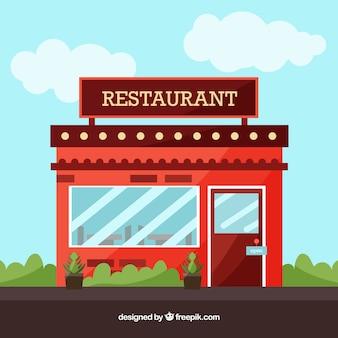 Elegante restaurantsamenstelling Premium Vector